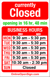 Business hours for The Mailbox in Ballard