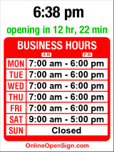 Business hours for Morgan's Kitchen & Bath