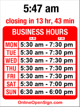 Business hours for Larsen Bros. Bakery