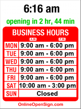 Business hours for The Mailbox