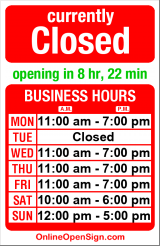 Business hours for Bike & Ski