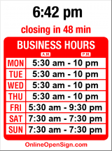 Business hours for Pro Robics