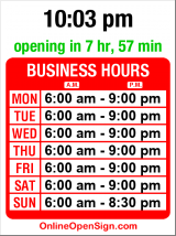 Business hours for Starbucks - Alki