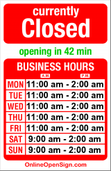 Business hours for Bamboo Bar & Grill
