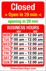 Business hours for McDonald's - W. Seattle