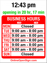 Business hours for Narcissus On The Ave