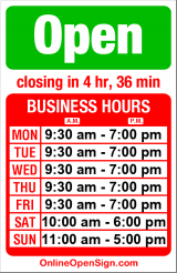 Business hours for Curious Kidstuff