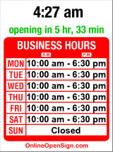 Business hours for West Seattle Books