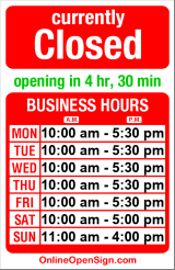 Business hours for Wild Rose's Antiques