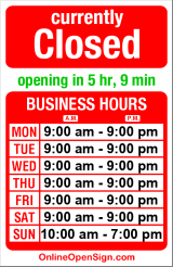 Business hours for Husky Deli