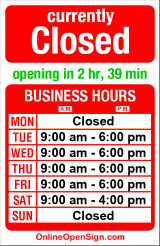 Business hours for Classic Barber Shop