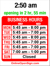 Business hours for Curves for Women