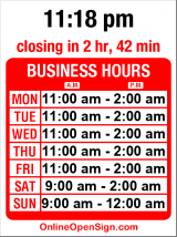 Business hours for Attic Alehouse & Eatery