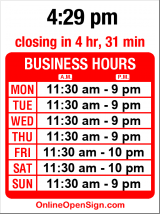 Business hours for Sorella's