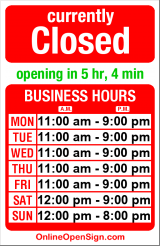 Business hours for Scoop du Jour