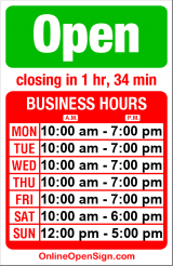 Business hours for American Music