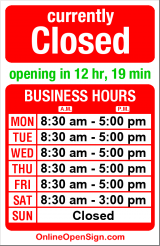 Business hours for Post Office 98116