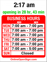 Business hours for Royal Cleaners