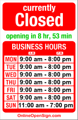 Business hours for Derby Salon