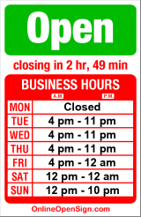 Business hours for Portalis