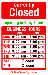 Business hours for Autoscan Inc