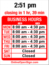 Business hours for Marine Safety Services