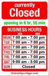 Business hours for House of Kleen