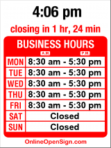 Business hours for British Auto Center