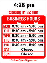 Business hours for Glassworks Inc.