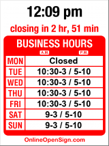 Business hours for Crepe Cafe & Wine Bar