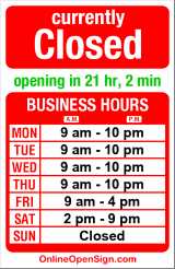 Business hours for Hillel at UW