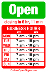 Business hours for University Presbyterian