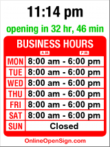 Business hours for Johnny's Flowers