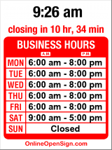 Business hours for Easy Shoppe