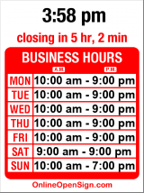 Business hours for Big 5 Sporting Goods