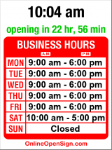 Business hours for Council Travel