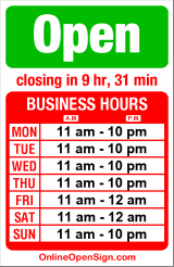 Business hours for China First