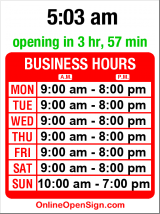 Business hours for Radio Shack