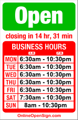 Business hours for Cafe Allegro