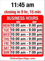 Business hours for Yummy Bites