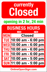 Business hours for Urban Surf