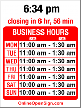 Business hours for Rock Bottom Brewery