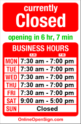 Business hours for Harvard Cleaners