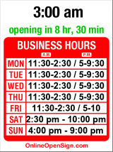 Business hours for Annapurna Cafe