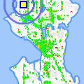 Click for map showing location of The Mailbox in Seattle (opens in new window)