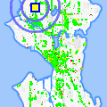 Click for map showing location of Sands Showgirls in Seattle (opens in new window)