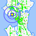 Click for map showing location of Gourmet Latte in Seattle (opens in new window)