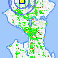 Click for map showing location of Shell Station Crown Hill in Seattle (opens in new window)