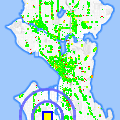 Click for map showing location of Delridge Neighborhoods Dev't in Seattle (opens in new window)