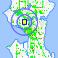 Click for map showing location of Bouncing Wall in Seattle (opens in new window)
